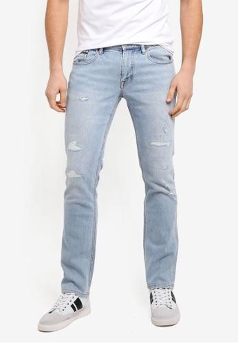 Calvin Klein blue VIintage Distressed Skinny Jeans - Calvin Klein Jeans F8C98AAFDA24F6GS_1