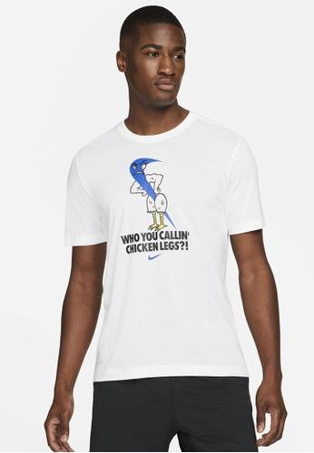 Nike white Men's Dri-FIT Graphic Training T-Shirt 6A565AAE987260GS_1