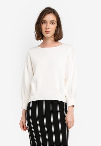 Mango white Organic Cotton Sweater 76D73AA7417F39GS_1
