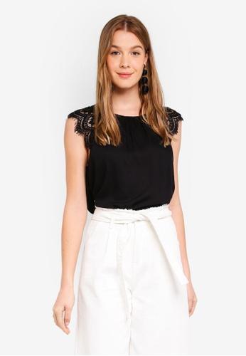 Vero Moda black Trudy Lace Top 78108AAA09D239GS_1