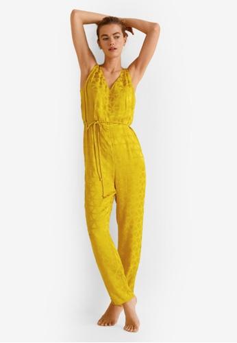 Mango yellow Cord Jacquard Jumpsuit 02026AABCB12B8GS_1