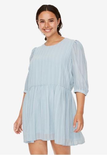 Vero Moda blue Plus Size Pikka 3/4 Mini Dress E84A1AA1DFC527GS_1
