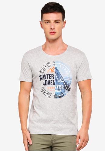 ESPRIT 灰色 短袖T恤 20018AA957230DGS_1