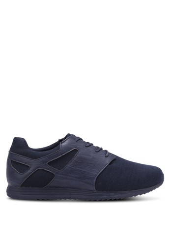 ZALORA navy Mixed Materials Trainers CF3ABSH590D900GS_1