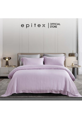 Epitex lilac purple Epitex XH5814 Tencel 1000TC Printed Bedsheet - Fitted Sheet Set - Bedding Set (w/o quilt cover) - Orchid Ice 9EADDHLA26DE2AGS_1
