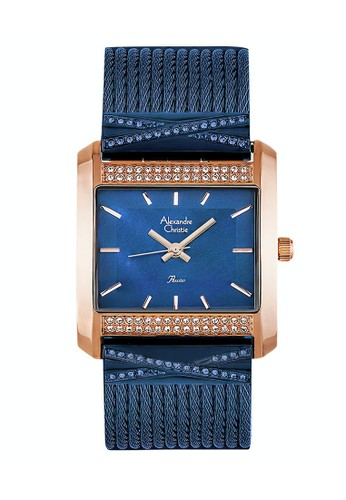 Alexandre Christie blue Alexandre Christie Jam Tangan Wanita - Blue Rosegold - Stainless Steel - 2748 LHBURBU 31EC2AC9C86923GS_1