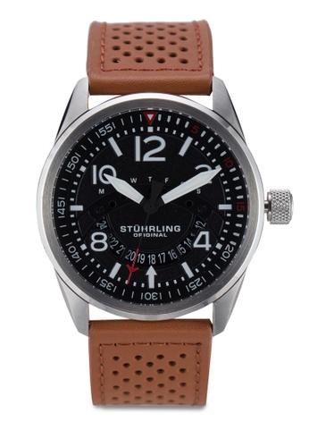 Stuhrling Original brown Aviator 448.01 Watch ST251AC09ICKMY_1