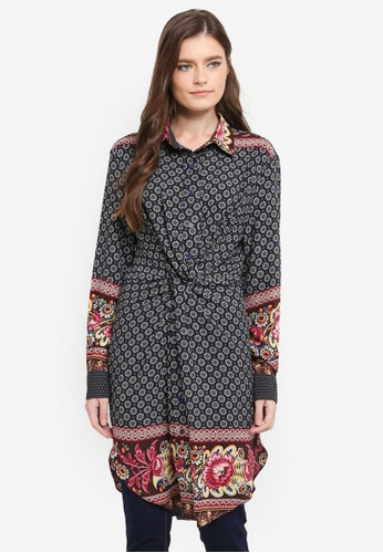Zalia multi Knot Long Shirt A7182AAA9D5966GS_1