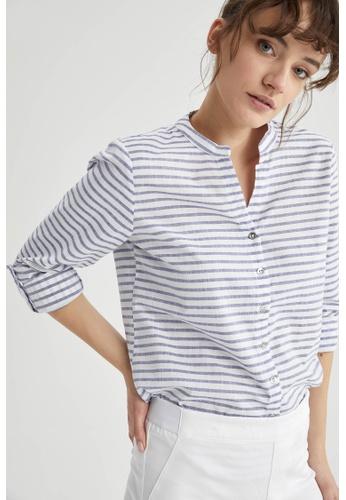 DeFacto blue Woman Woven Long Sleeve Shirt F2C38AA65C77FFGS_1