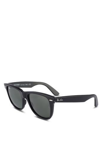 Ray-Ban black Wayfarer RB2140 Sunglasses 0E8D4GLD063ED8GS_1