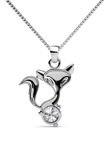 Her Jewellery silver Fox Pendant - Licensed Genuine Crystals from Swarovski® HE581AC0RVS9MY_1