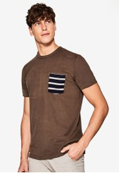 ESPRIT brown Short Sleeve T-Shirt ES374AA0SAZAMY_1
