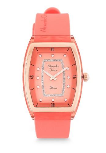 Alexandre Christie pink Alexandre Christie Jam Tangan Wanita - Peach Rosegold - Silicon - 2847 LHRRGPE A622CAC4371FDDGS_1