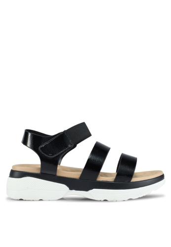 Bata black Bata Velcro Strappy Sandals E4020SH5F95B09GS_1