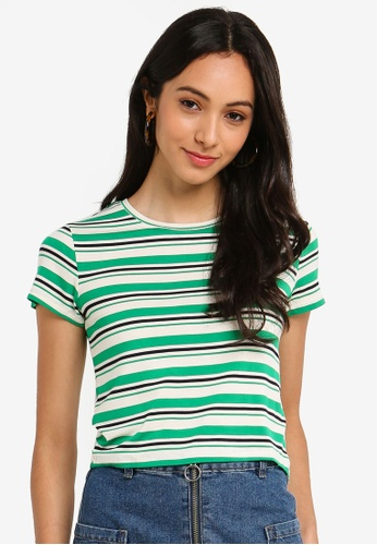 Cotton On green and multi The Baby Tee E611FAABE352D3GS_1