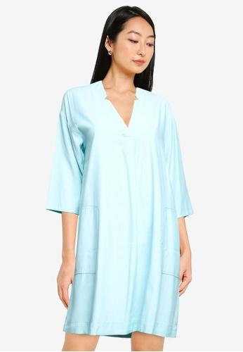 ZALORA BASICS green Oversized Casual Dress 20CFBAA2A6D2A9GS_1