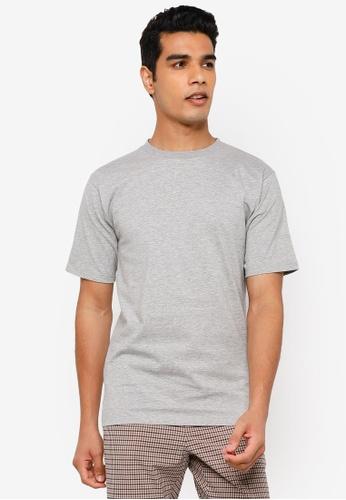 RAGEBLUE grey Plain T-Shirt 40E62AAD5AE6B2GS_1