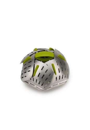 Joseph Joseph Joseph Joseph Bloom Steel Non-scratch Folding Steamer Basket - Steel (H14.8xW14.8xD10cm) 4C9F8HL2B61348GS_1
