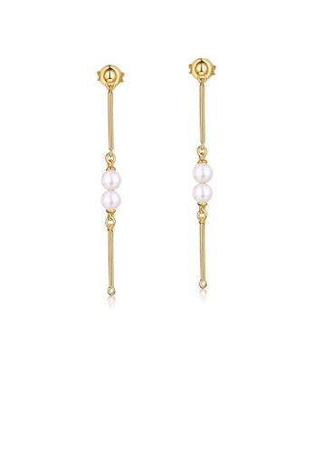 SUNSET gold Premium 925 Sliver Pearl Earring 50831ACF41BEB4GS_1