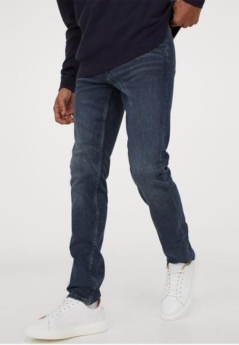H&M blue Freefit® Slim Jeans CB841AAAAA9D27GS_1
