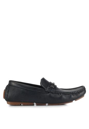 UniqTee black Slip On Loafer With Hardware EB2CCSH0092E72GS_1