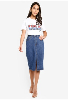 8701ebe575a 27% OFF MISSGUIDED Clean Front Split Midi Skirt HK$ 329.00 NOW HK$ 239.90  Sizes 6 8 10 12 14