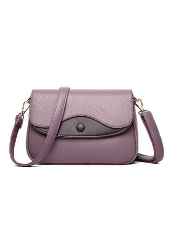 Lara purple Women's All-match Water-repellent Leather Flap Cross-body Bag - Purple 9CF43AC09DBA71GS_1