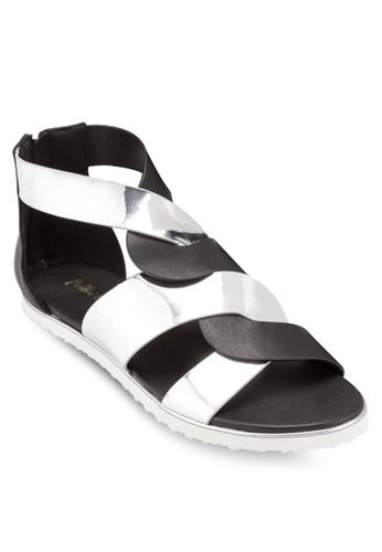 雙色亮面交叉涼esprit outlet 台灣鞋, 女鞋, 鞋