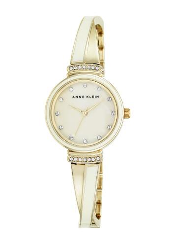 Anne Klein gold Anne Klein Ladies - Swarovski Crystal-Accented Watch - AK-2216IVGB AN844AC0RGSOMY_1