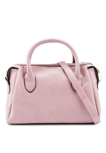 Unisa pink Faux Leather Convertible Top Handle Bag 20723AC3A0E9C9GS_1
