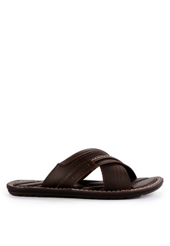 Watchout! Shoes brown Sandals Slip On 28C69SH4F1F482GS_1