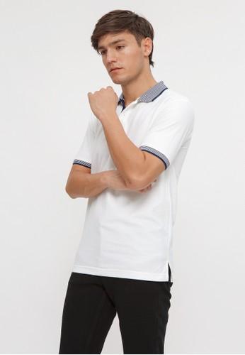 ALYCIA CLOTHING white Polo-Shirt Men :List Navy B5816AAC93D918GS_1