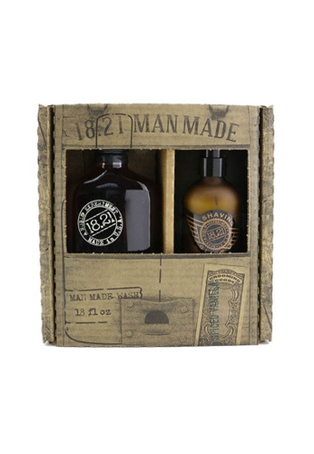 18.21 Man Made 18.21 MAN MADE - Man Made Wash & Shaving Glide Set - # Spiced Vanilla: 1x Shampoo, Conditioner & Body Wash 530ml + 1x Shaving Glide 177ml 2pcs 8BDFFBEE47CE88GS_1