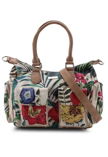 52d8f294ae2 Desigual white and multi Clio London Handbag 0A3DCACB63A514GS_1