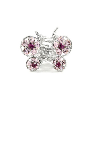 Glamorousky purple Butterfly Clamp in Purple Austrian Element Crystals 5EDB0AC3B402F2GS_1