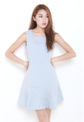 Leline Style blue Meri Flow Dress LE802AA47FIQSG_1