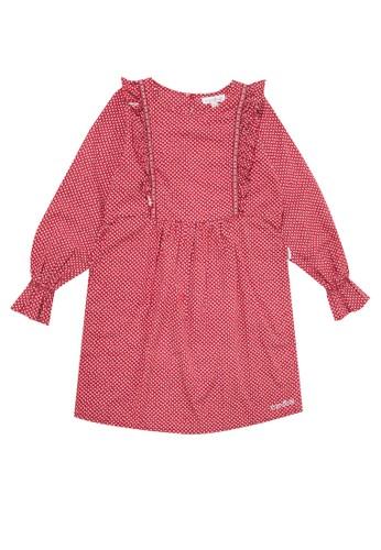 Cardinal Kids red Dress Motif Abstrak 0FC4BKA8E69A5BGS_1