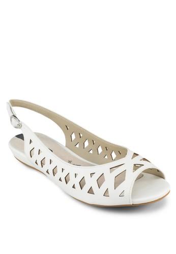 露趾鏤esprit香港門市空平底涼鞋, 女鞋, 芭蕾平底鞋