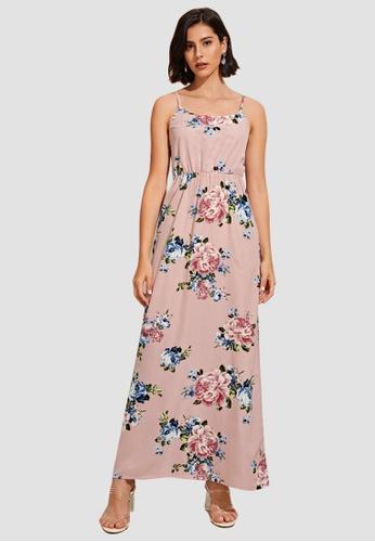 Miss M multi Floral Garter Waist Cami Dress 05BF8AA20E98DDGS_1
