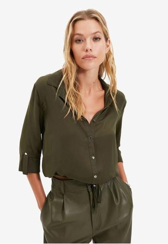 Trendyol green Khaki Shirt 7BAA3AAE660114GS_1