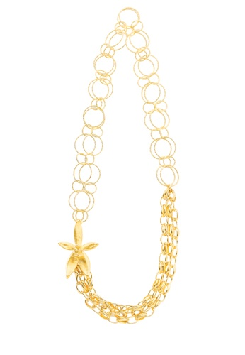 RISIS gold RISIS 24K Gold Plated Natural Orchid Link Necklace (C) 5A65BACA381F89GS_1
