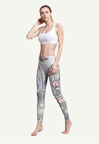 B-Code white ZYG5013-Lady Quick Drying Running Fitness Yoga Sports Leggings-White 8A478AA610D3B6GS_1