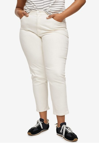Violeta by MANGO white Plus Size Mom-Fit Jeans 61778AA90C1274GS_1