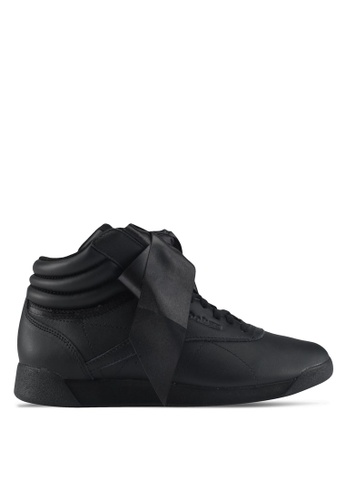 Reebok black F/S HI Satin Bow Shoes RE691SH0SWYCMY_1