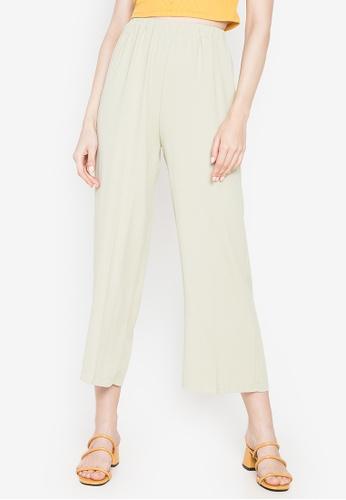 Chloe Edit green Garterized Soft Pants 4385EAA0EE7427GS_1