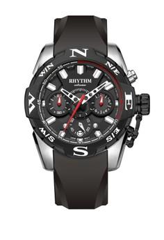 RHYTHM Rhythm S1414R 02 - Jam Tangan Pria - Silicon - Black Silver