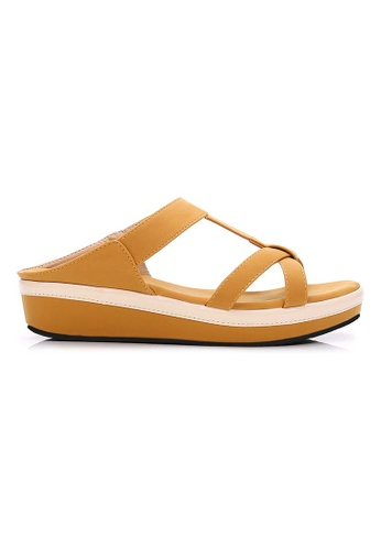 BNC yellow Slide Sandal 91F4CSH06C5CA0GS_1