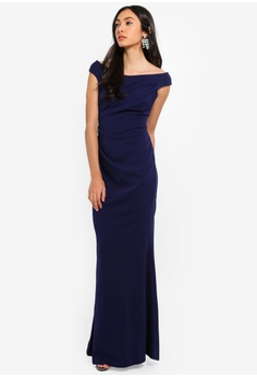 c79b8d5e6a01c 20% OFF Goddiva Fishtail Maxi Dress With Pleating Detail S$ 83.90 NOW S$  66.90 Available in several sizes