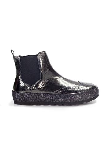 Shu Talk black XSA British Stylish Metallic Patent Leather Chelsa Boots 54E06SH4655A32GS_1