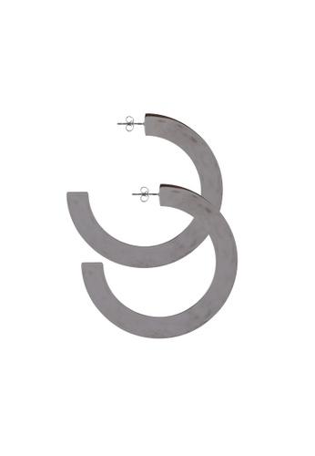 Megane silver Merk Earrings 44A02AC5CE4A74GS_1
